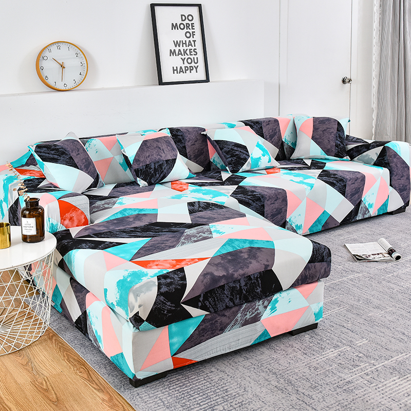 geometric pattern sofa cover elastic all-inclusive slipcover sofa strech sofa towel L-shaped section sofa need buy 2pieces cover image