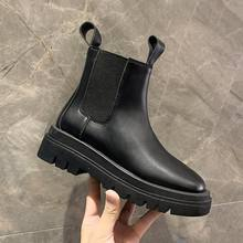 Женские кожаные ботинки до щиколотки черные удобные ботильоны