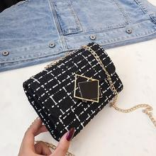 Chain Plaid Cross Body Bag For Women 2019 Fashion Messenger