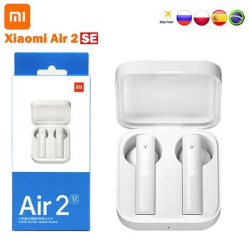 Oryginalny zestaw słuchawkowy Bluetooth Xiaomi Air2 SE TWS AirDot Pro 2 SE Mi prawdziwy bas bezprzewodowy zestaw słuchawkowy inteligentny dotyk 20 godzin czuwania baterii tanie i dobre opinie Tłok Zaczepiane na uchu Dynamiczny CN (pochodzenie) Prawdziwie bezprzewodowe 120dB Słuchawki do monitora Do gier wideo