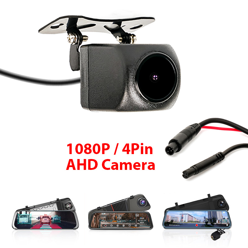 Car-Rear-View-Camera Car-Mirror Jack Dashcam AHD 1080P with 4-Pin for Waterproof