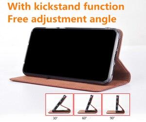 Image 3 - Echte echtem leder magnetische telefon fall kreditkarte slot halter für Xiaomi Redmi K20 Pro/Xiaomi Mi9T flip telefon abdeckung tasche funda