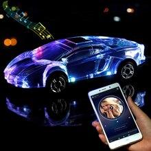 Altavoces estéreo con Bluetooth para coche, modelo de altavoz en forma de coche con soporte para USB, tarjeta TF, MP3, MP4, reproductor de música, regalo de chico para PC y teléfono móvil