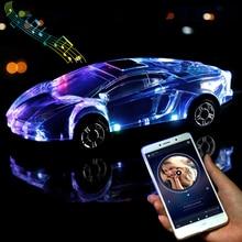 Bluetooth voiture modèle haut parleurs stéréo voiture forme haut parleur Support USB TF carte MP3 MP4 lecteur de musique basse enfant cadeaux pour téléphone PC