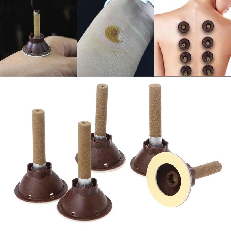 50Pcs/Set Self-stick Paste Moxibustion Tube Candle Acupuncture Points Massage