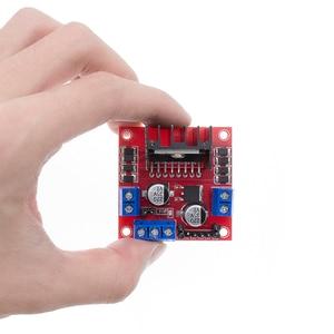 Image 5 - Free Shipping 50pcs/lot L298N motor driver board module L298 for   stepper motor smart car robot