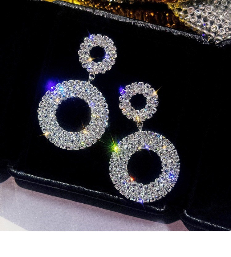 New Style 925 Silver Needle Crystal From Austrian For Women Exquisite Rhinestone Earring Fashion Jewelry