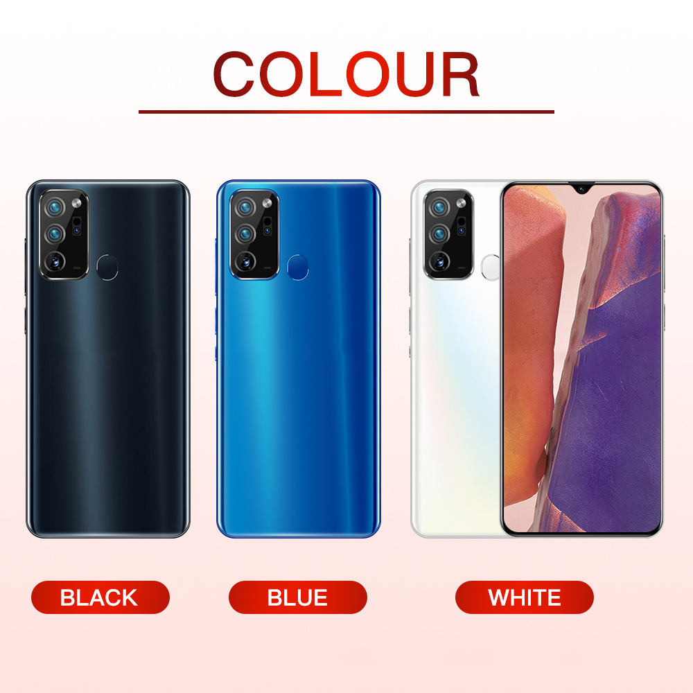 NEW 6.5inch Note20Ultre Smartphone 12GB RAM 512GB ROM Snapdragon 855 Cellphone Dual SIM Android Mobile Phone Cell Smart Phones