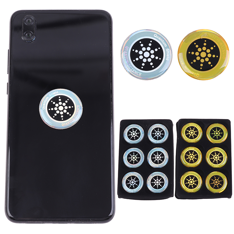 6Pcs/sheet Anti Radiation Protection Sticker EMF Protector Quantum Shield For Cell Phone