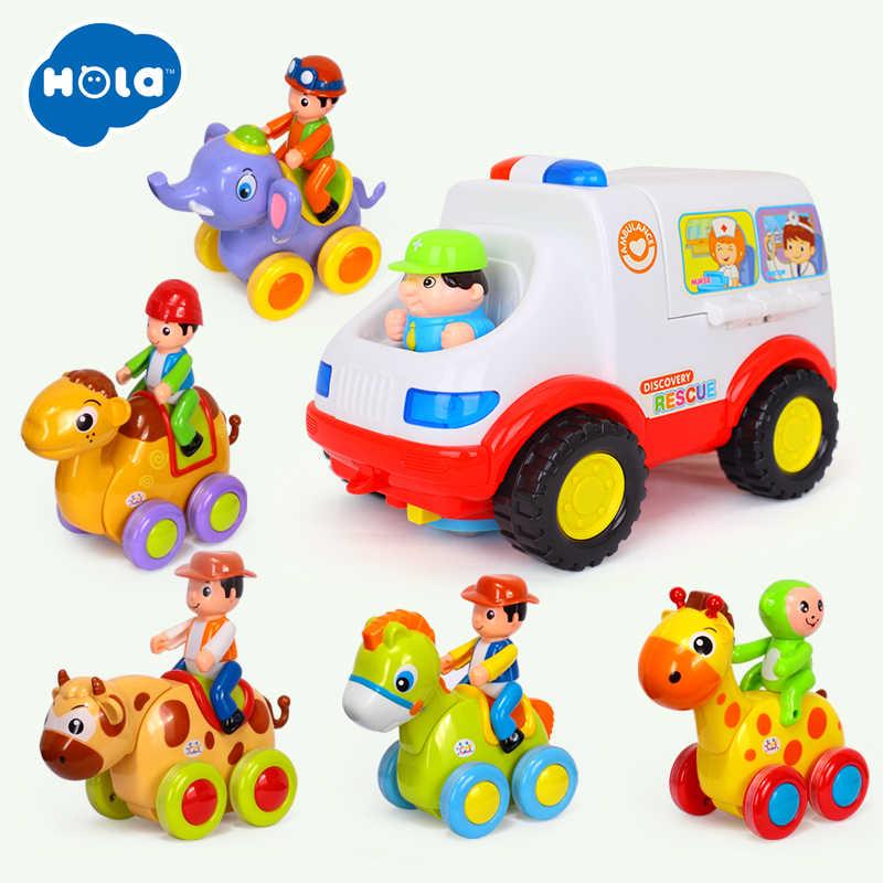 HOLA 836 и 366 скорой помощи Доктор автомобиль набор 2-в-1 Детские игрушки притворяться Набор доктора и медицинский набор внутри с животом для игрушечного автомобиля