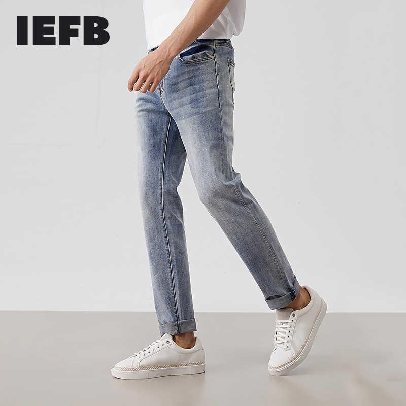 Iefb Pantalones Vaqueros Coreanos Para Hombre Ropa De Primavera 2020 Media De Cintura Elastica Faciles De Combinar Pantalones Azules Informales 9y767 Pantalones Vaqueros Aliexpress