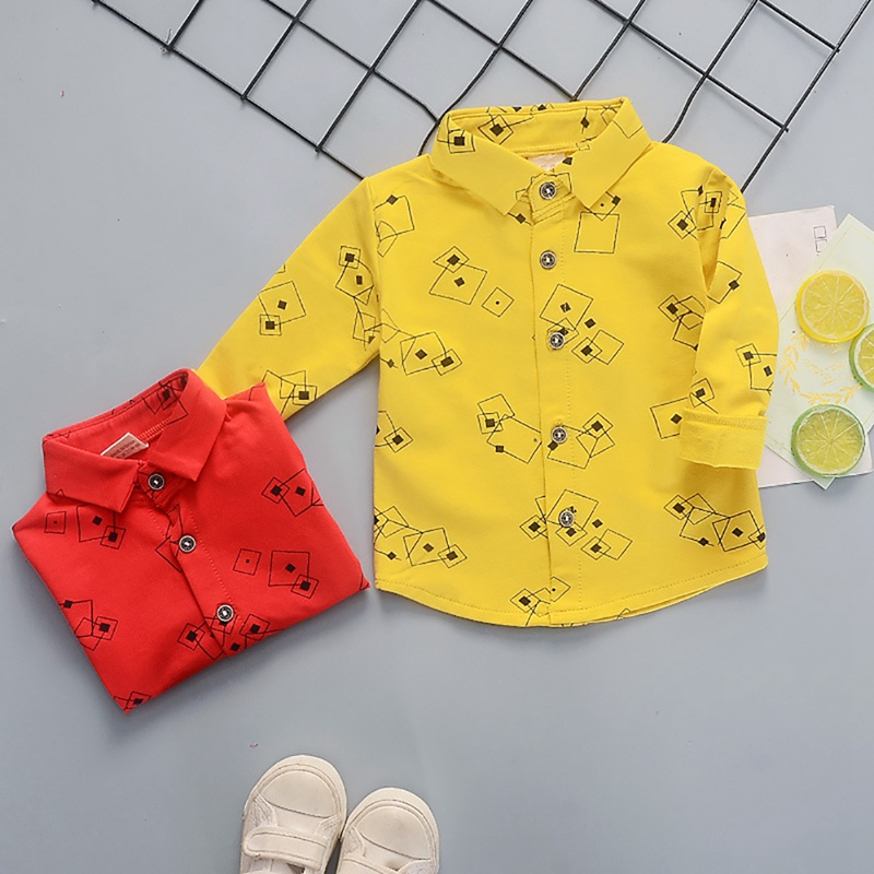 T-Shirts Blouse Tops Long-Sleeve Autumn Baby-Boys Kids Casual for Geometric-Pattern Tees