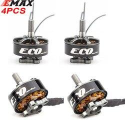 4PCS Emax Eco Series 2207 1700/2400KV Brushless Motor 3-4S 3-6S 5-5.5 inch Propeller M5 5mm Shaft for Rc Drone Fpv Racing Models