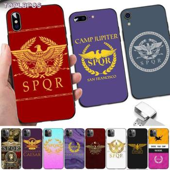 TOPLBPCS SPQR Roman Imperial legion black Phone Case Hull for iPhone 8 7 6 6S Plus X 5 5S SE 2020 XR 11 pro XS MAX image