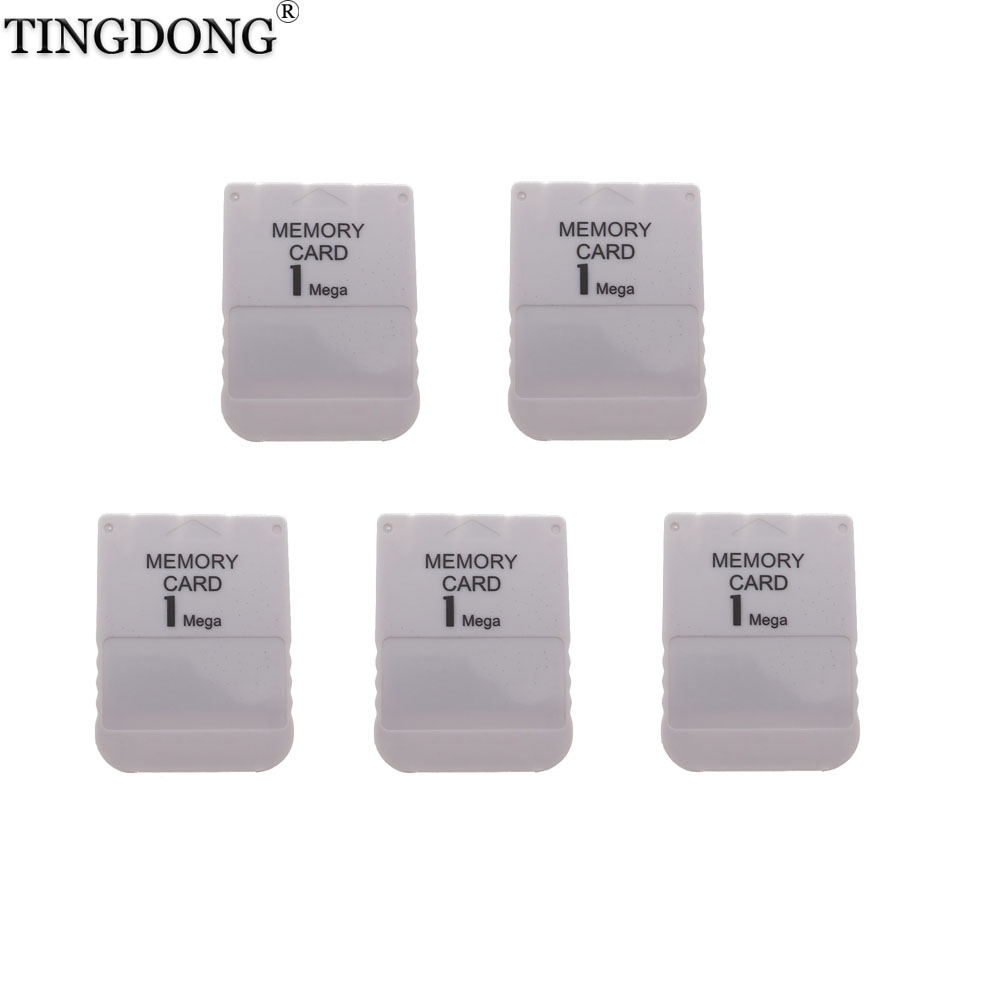 10pcs a lot White 1MB 1M Memory Save Saver Card For Sony Performance for Sony Playstation PS1 PSX Game System 1 mega