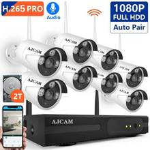 цена на Security Camera System Wireless, 8CH 1080P H.265 PRO Wireless CCTV Camera System HD Security Cameras, P2P WiFi Security Camera