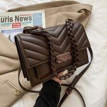 2021 Women's Handbags Solid Ladies Crossbody Bags Women Leather Shoulder Bag Luxury Designer New Trending Chains Purse ALL-Match