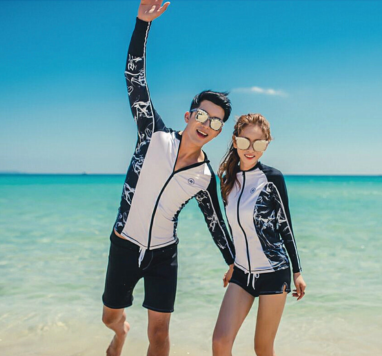 Korean-style Couples Long Sleeve Sun Protection Clothing Jellyfish Clothing Outdoor Sports Yoga Surfing Water-skiing Diving Suit