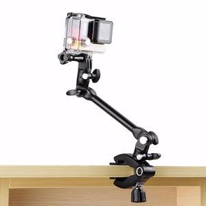 Image 1 - Adjustable Desktop Guitar Mic Music Mount  Rotating Stage Clamp Bracket Holder for GoPro/XIaoyi/SJCAM/AEE Sports Camera Stand