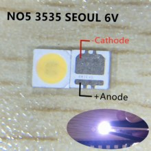 1000pcs SEOUL High Power LED LED Backlight 2W 3535 6V Cool white 135LM TV Application SBWVL2S0E