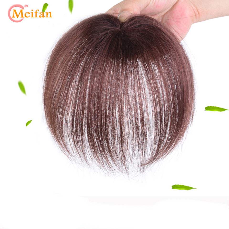 MEIFAN Synthetic Top Hair Pieces for Women in Overhead Partial Replacement Hair Color Invisible Seamless Hand-Woven Covering
