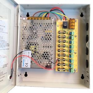 Image 2 - 9CH AC100 240V To DC12V 5A 10A 15A Power Supply Box Adapter Transformer for CCTV Security Camera LED Strip String Light