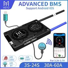 Contrôleur de batterie intelligent Bluetooth RS485 12V 24V 36V 48V, 3S 4s 8S 13S 16S 20S 24S Li-ion LiFePO4 30A 40A 60A 80A 100A 200A BMS
