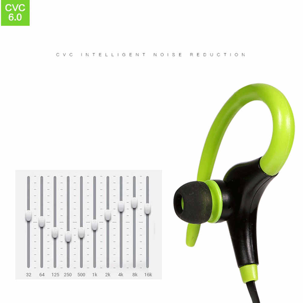 Auriculares inalámbricos deportivos auriculares Bluetooth a prueba de sudor auriculares bajos con micrófono para teléfono iPhone Xiaomi