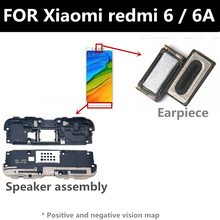 цена на FOR Xiaomi redmi 6 6A Loudspeaker composition Front Earpiece Ear piece Speaker earpiece FOR phone Repair and Replacement Parts
