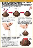 Eksperyment naukowy dla dzieci zabawka wybuch wulkanu bezpieczny przyjazny dla środowiska Model DIY eksperyment w klasie zestaw chiny nauka na