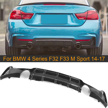 Carbon Fiber Rear Bumper Diffuser Lip for BMW 4 Series F32 F33 M Sport 2014-2017 435i 420i FRP Rear Bumper Diffuser Lip Spoiler image