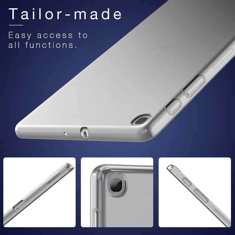 Case untuk Samsung Galaxy Tab A 10.1 8.0 2019 TPU Silikon Clear Soft Case untuk Samsung Galaxy Tab S5e S6 transparan Penutup Belakang