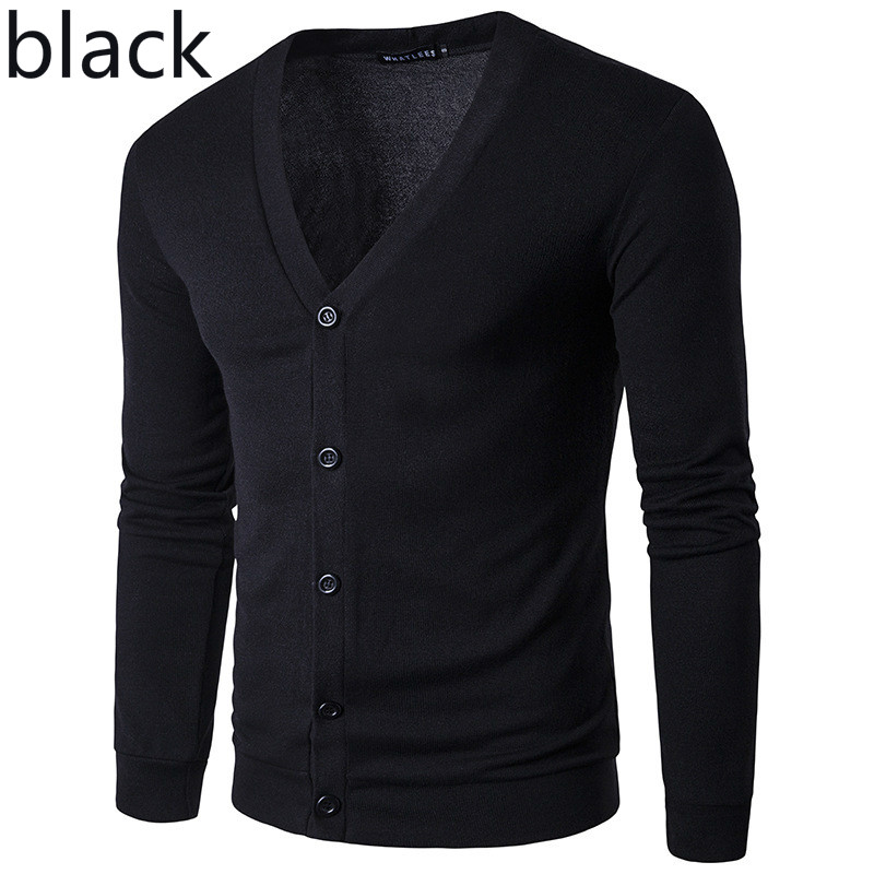 ZOGAA New Brand Sweater Men V-Neck Solid Slim Fit Knitting Mens Sweaters Cardigan Male 2019 Autumn Winter Fashion Casual Coats 4