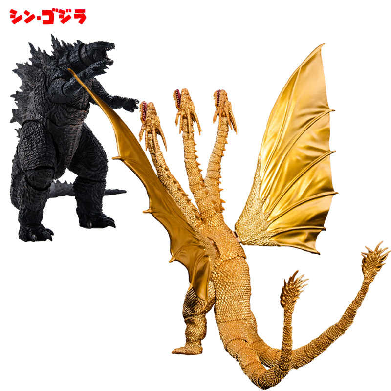 31 centimetri SHM Godzilla: king of The Monsters Ghidorah Action Figure Super-Mobile Giunti Tre Teste di Drago Pvc Figurine Decorazione