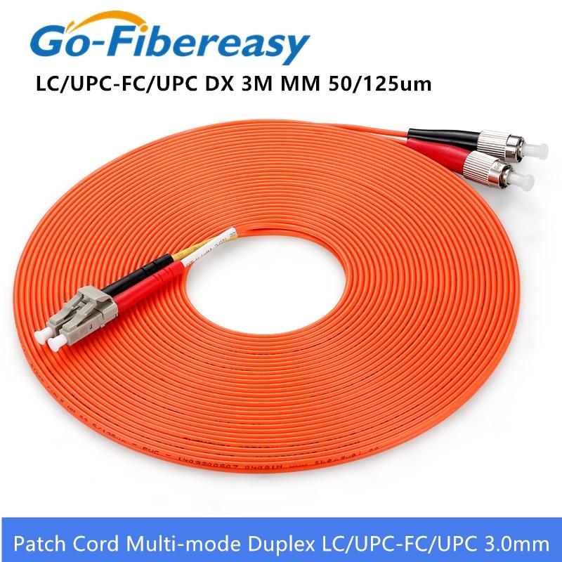 FiberCablesDirect 9.84ft | Length Options: 0.5M-300M 10Gb Duplex 50//125 ST to ST Multimode Jumper 3 Meter Alt: ofnr st-st patchcord mmf dx st//st aqua zip-cord 3M OM3 ST ST Fiber Patch Cable
