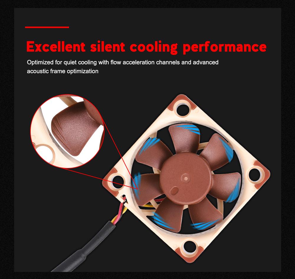 Noctua 12V/5V NF-A4x10 FLX Silent Cooling Fan Radiator as 3D Printer Parts for ENDER 3