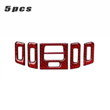5 Pcs/set Udara Outlet Trim Strip Vent Mobil Styling untuk BMW 3 Seri E90 E92 E93 2005-2012 aksesoris Merah(China)