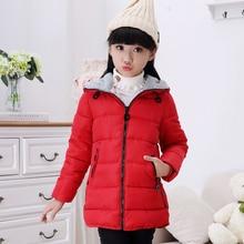 Детская одежда зимняя стеганая куртка для девочек детское утепленное пальто средней длины с хлопковой подкладкой детская верхняя одежда парки для девочек
