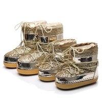Kobieta śniegowce dziecinne kobiety zimowe ciepłe platformy futro cekiny buty kobiet buty Bota kostki buty dla rodziców i dzieci damskie buty c915 w Buty od Matka i dzieci na