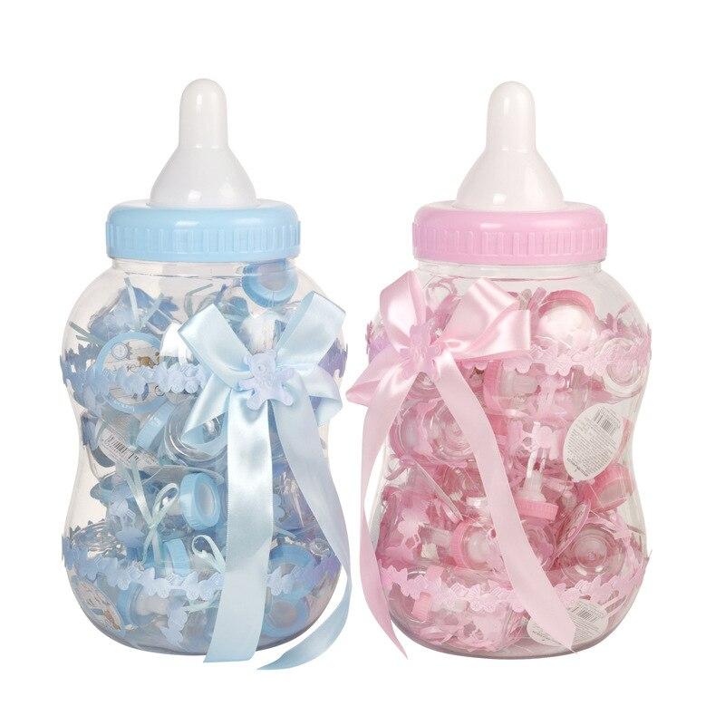 Haute qualité créative petite tirelire ensemble de bouteilles boîte à bonbons bébé brithday grande bouteille boîte à bonbons boîte cadeau emballage pour chocolats