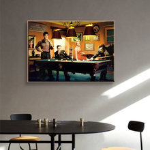 Modern Classic Movie Poster Canvas Paintings Famous Stars Play Billiards Posters and Print Wall Art Pictures for Home Decoration