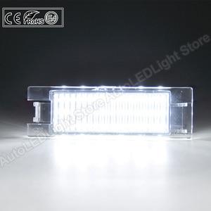 Image 5 - 2Pcs LEDจำนวนใบอนุญาตLight PlateสำหรับFiat Multipla Croma Grande Punto Tipo Punto Seicento Doblo Marea Linea Brava alfa Romeo