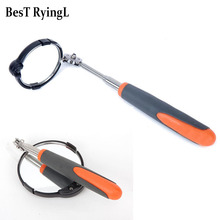 1pcs 760mm Adjustable Repair Vehicle Chassis Telescopic Inspection Mirror with LED Light 82mm