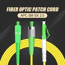 Optical-Fiber Pigtail Catv-Optic-Patch Cord FTTH Simplex 1m 100pcs/Lot SC/APC 652D 9/125