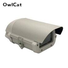 6 Inch Cctv Camera Box Clear Glas Zonder Lens Uitsparing Kamera Behuizing Outdoor Case Waterdichte Behuizing Aluminium Cover