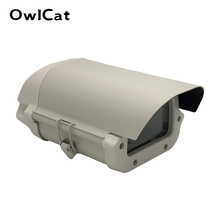 6inch CCTV Camera Box Clear Glass WITHOUT lens cutout kamera Housing Outdoor Case Waterproof Enclosure Aluminium Alloy Cover