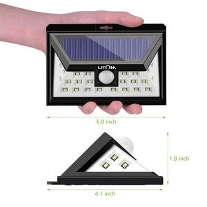 Image 5 - Litom cd013 24 led 태양 광 모션 센서 와이드 앵글 led 램프 정원 야드 벽 태양 광 전원 야외 조명 3 조절 모드