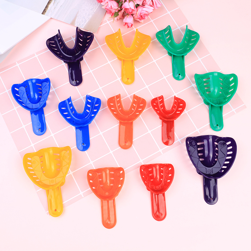 2pcs/set Plastic Autoclavable Adult And Kid Dental Impression Tray For Dental Alginate Impression Material