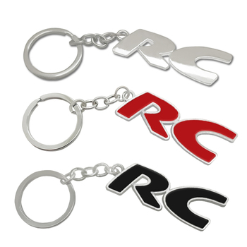 3D Metal Car Keychain RC Emblem Badge KeyChain keyring Key Chain for For PEUGEOT RC 207 SPORT GT 308 306 206 208 Car Styling