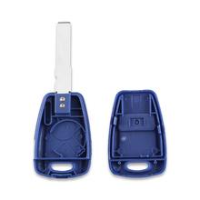 KEYYOU Car Styling obudowa pilota bez kluczyka skrzynki pokrywa 1 przycisk dla fiat punto Doblo Bravo Transponder Auto obudowa kluczyka SIP22 GT15R ostrze tanie tanio GT15R blade SIP22 blade China Key Cover For Fiat Blue